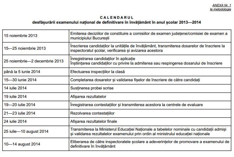 Calendar definitivat 2014